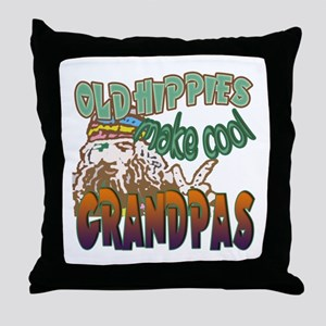 ROCK N ROLL GRANDPA Throw Pillow